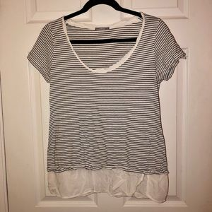 BLACK & WHITE STRIPED T-SHIRT!!!! ONLY $10!!!